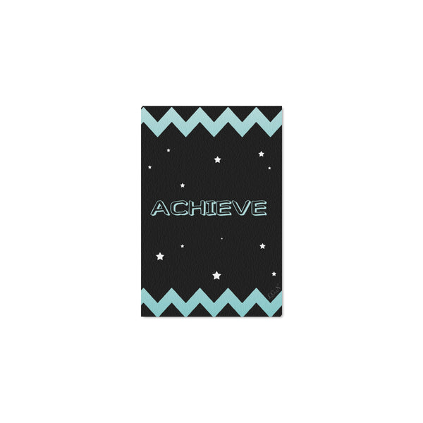 "ACHIEVE ,Framed Canvas Print 12"" x 8""-[stardust]"