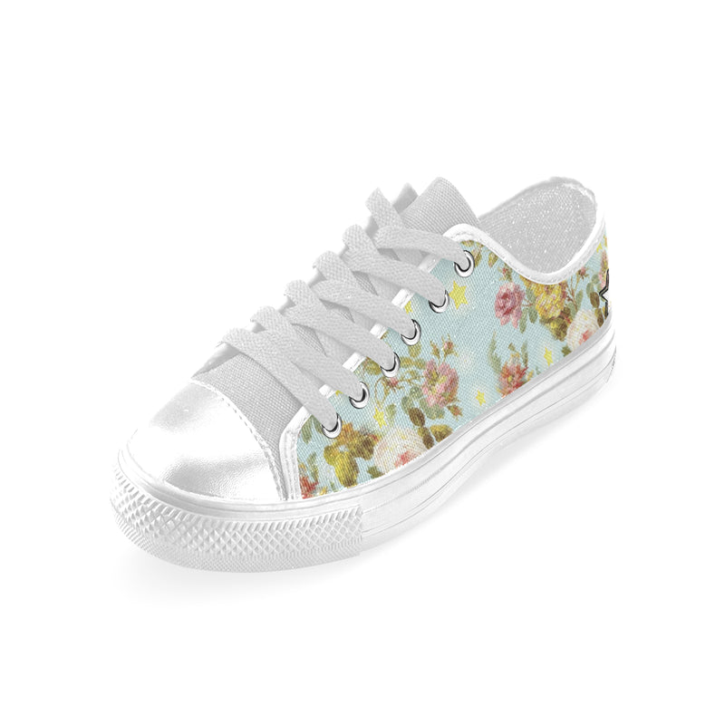 Baroque flowers N Stars canvas shoes