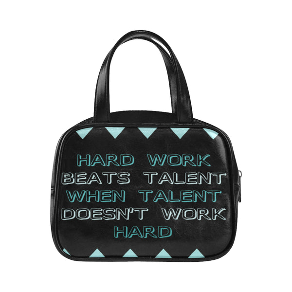 Hard work Beats Talent ,Top Handle Handbag-[stardust]