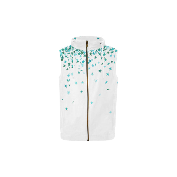 Athlete, All Over Print Full Zip Sleeveless Hoodie-[stardust]
