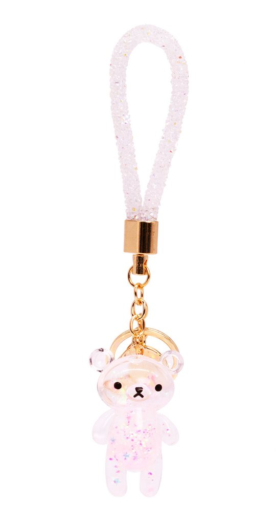 Glitter Bear Keychain - Holographic
