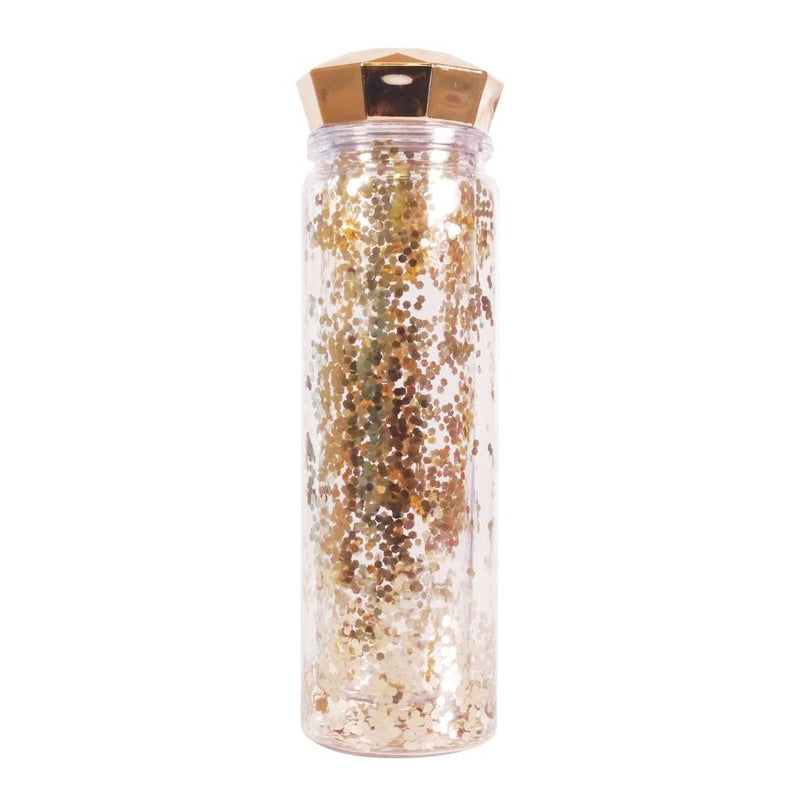 Glitter Water Bottle - Rose Gold