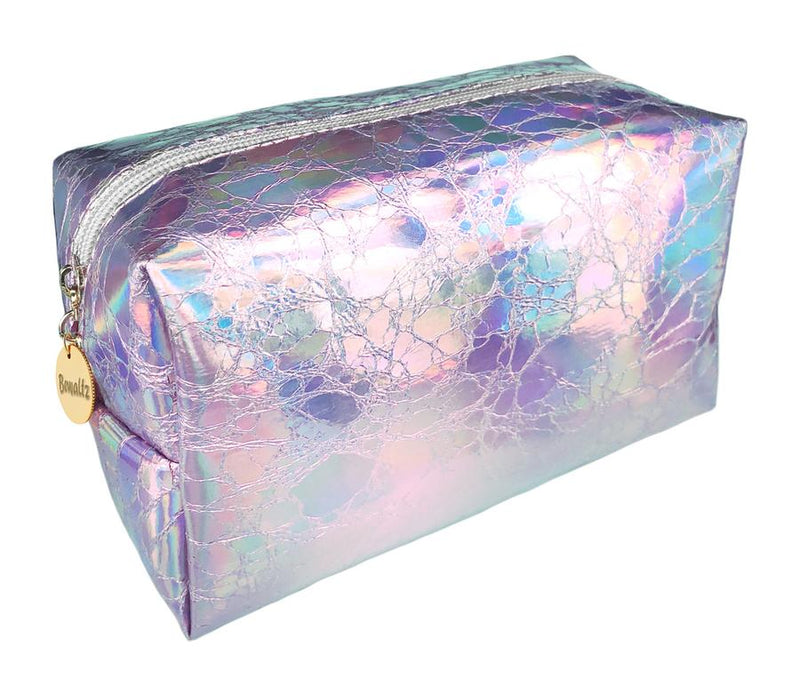 Holographic Makeup Bag Silver