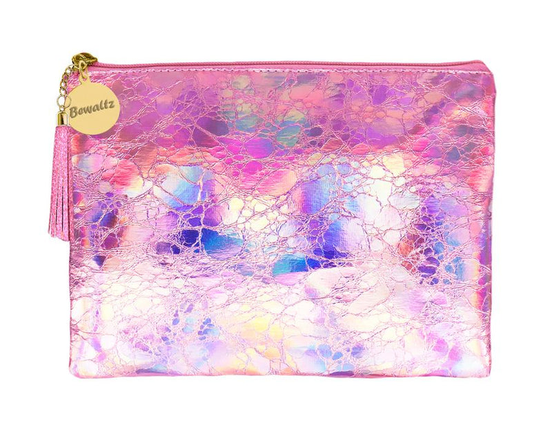 Holographic Makeup Large Pouch Pink