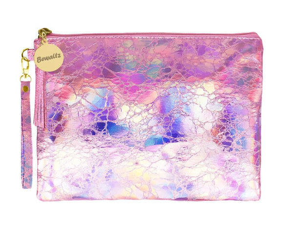 Holographic Makeup Pouch Small Pink