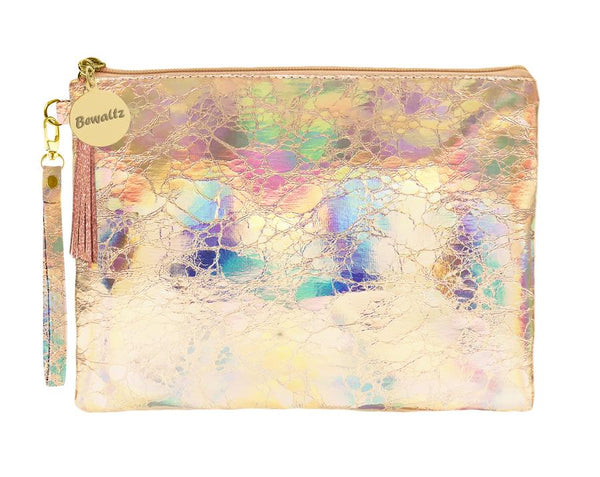 Holographic Makeup Pouch Small Rose Gold