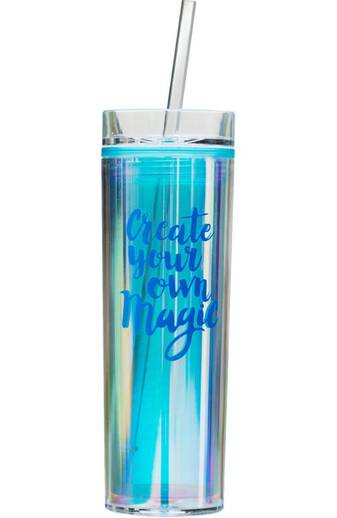 "Holographic Tumbler - Blue ""Create Your Own Magic"""