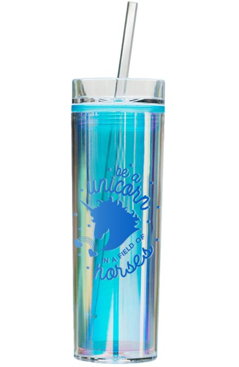 Holographic Unicorn Tumbler - Blue Be A Unicorn