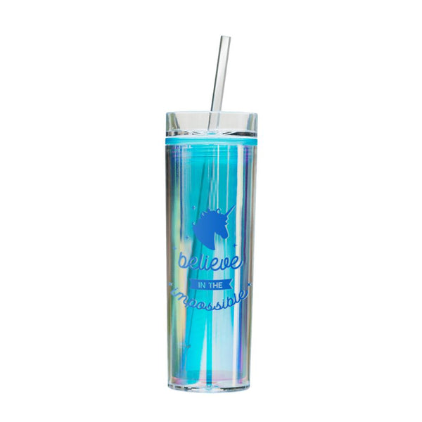 Holographic Unicorn Tumbler - Blue Majestic
