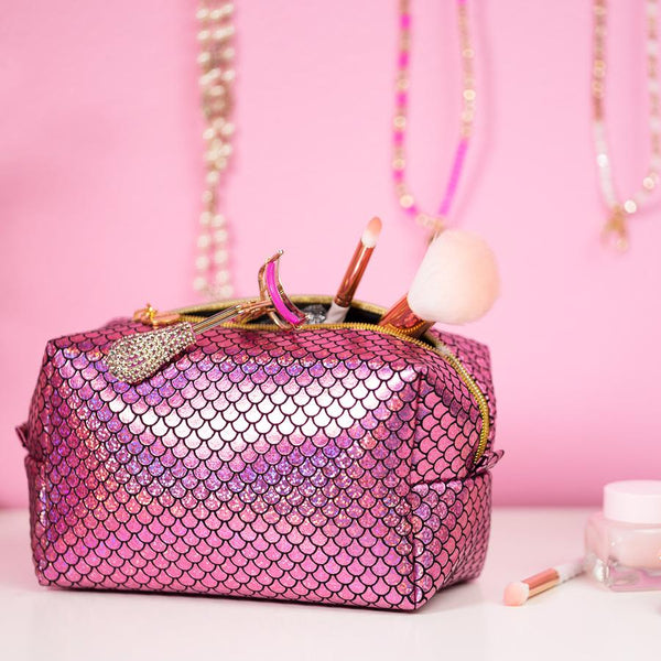 Mermaid Makeup Bag Pink