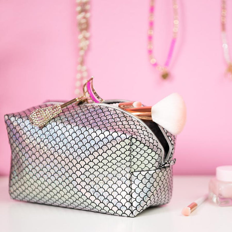 Mermaid Makeup Bag Silver