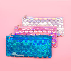 Mermaid Scallop Pencil Pouch - Set of Three