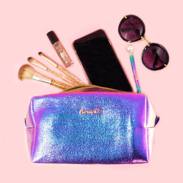 Metallic Makeup Bags