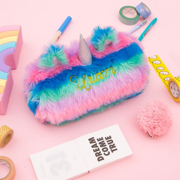Plush Unicorn Pencil Pouch