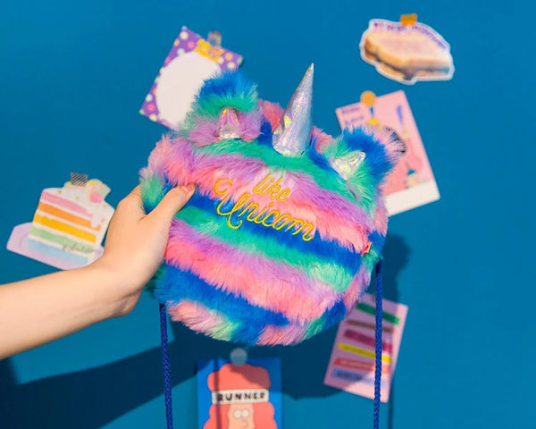 Plush Unicorn Crossbody