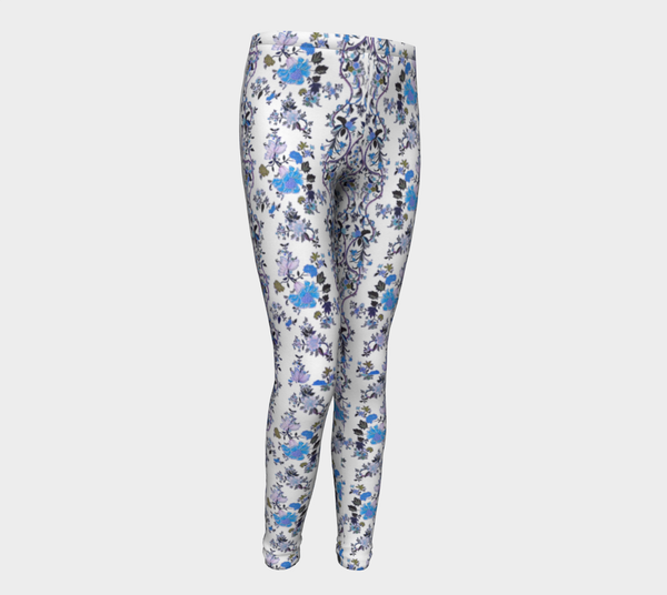 Folclore Oriental blue flower, Eco friendly Leggings