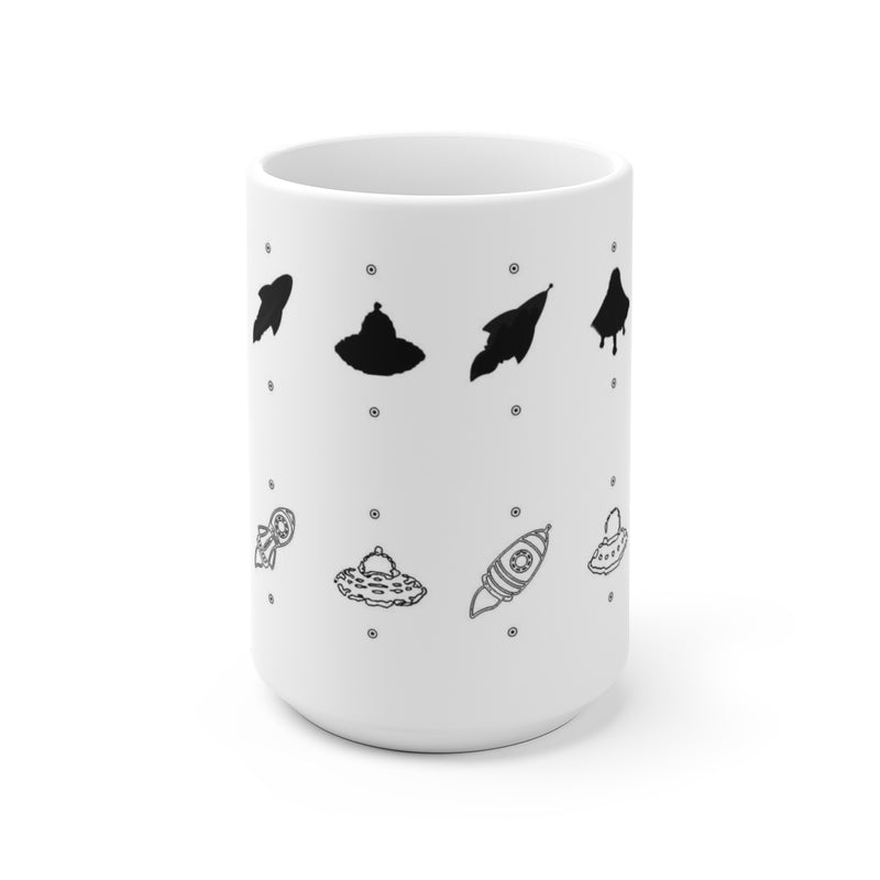 White match the shadow Ceramic Mug-[stardust]