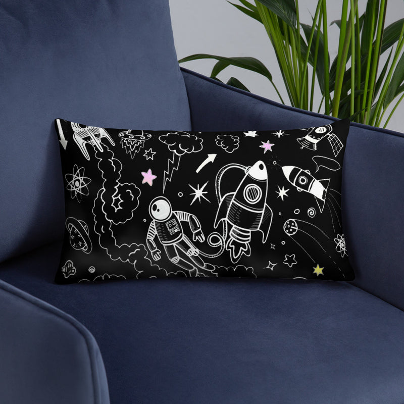 Black,Ultra Galactic Basic Pillow with Pillow Case-[stardust]