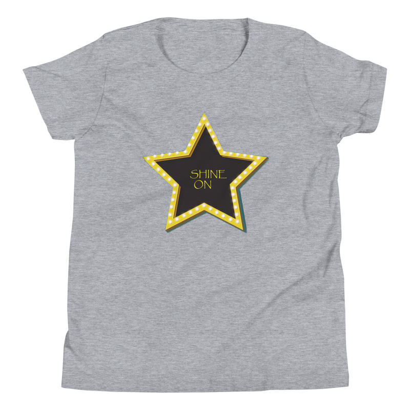 Shine On , Relaxed fit ,100% soft jersey cotton T-Shirt, in 4 color variants.-[stardust]