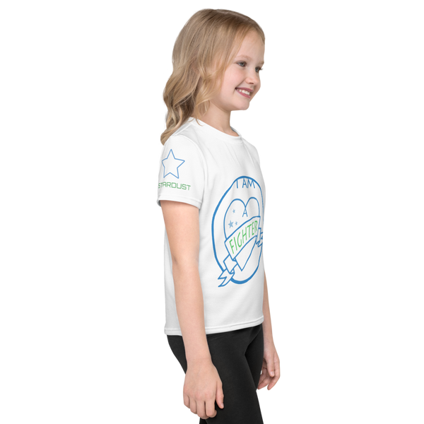 I am a Fighter, Kids T-Shirt, with  printed sleeve size 2-7.  END NF
