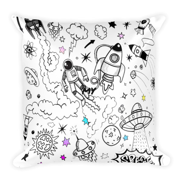 Ultra Galactic Pillow with Basic Pillow Case-[stardust]