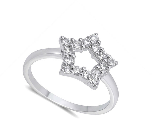 Sterling Silver Star CZ Ring-[stardust]