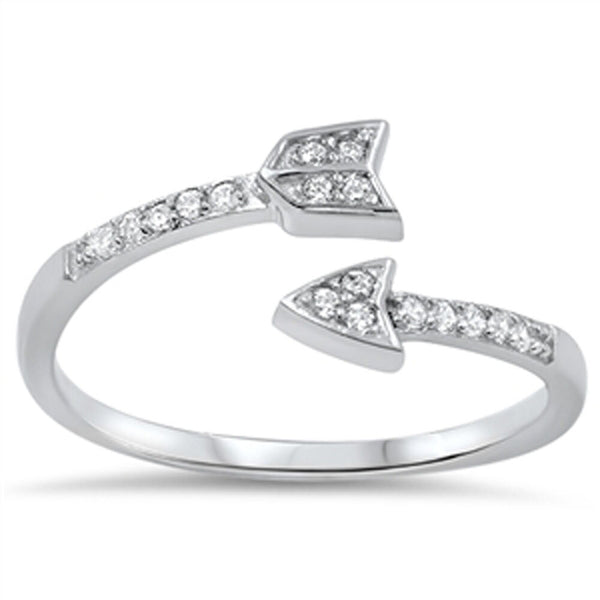 Silver ,Adjustable Arrow Ring-[stardust]