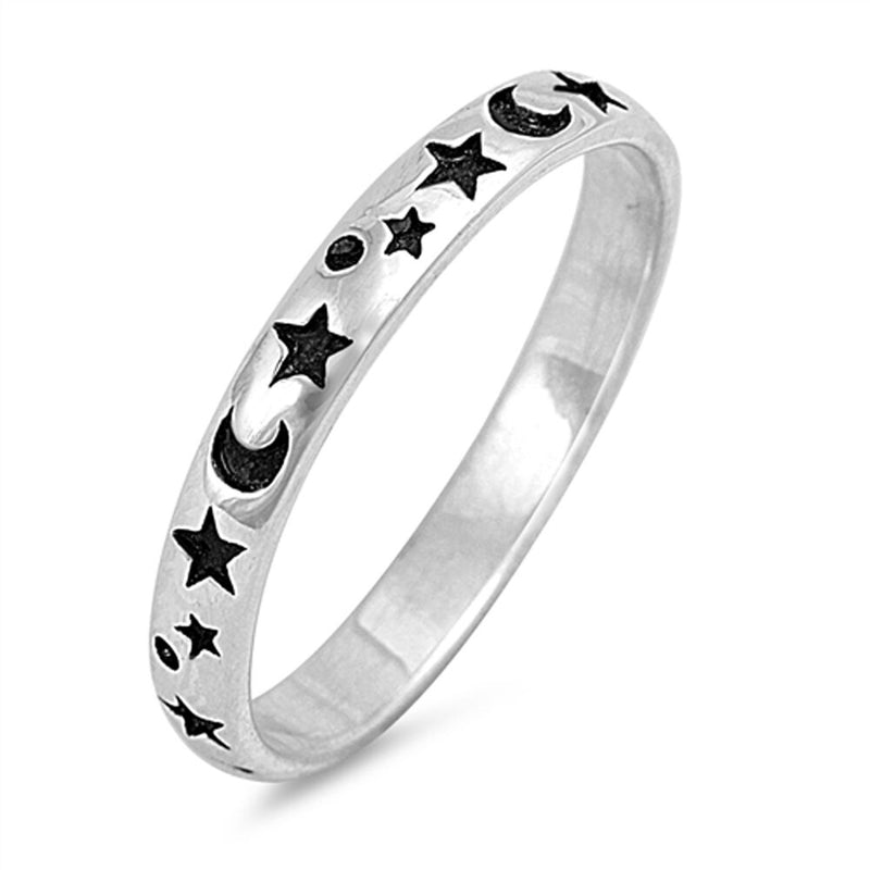 The Moon and The Stars, Silver Ring-[stardust]