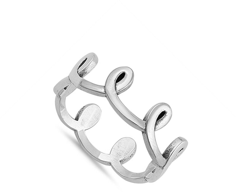 Knotted Swirloop Tiara Sterling Silver Ring-[stardust]
