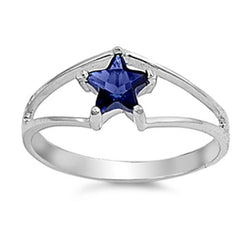 Blue Star Silver Ring-[stardust]