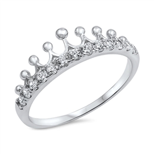 The Crown Silver & CZ Princesses Sterling Silver Ring-[stardust]