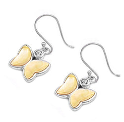 Silver Butterfly Earrings-[stardust]