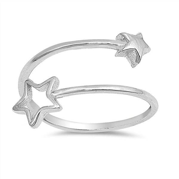 Star Crossed Adjustable Sterling Silver Ring-[stardust]