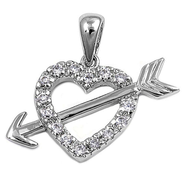 Arrow Through the Heart Pendant -[stardust]