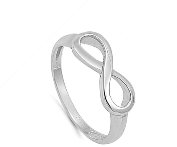 Infinity Knot Sterling Silver Ring-[stardust]