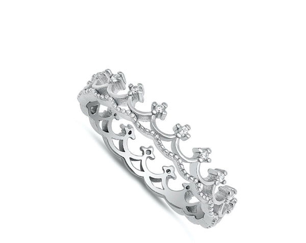 The White Princess ,Sterling Silver and Crystals Ring-[stardust]