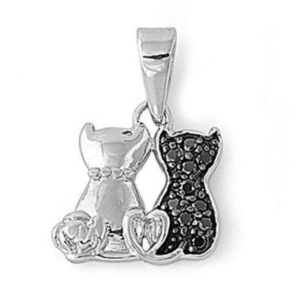 Cats True Friendship, Pendant Silver Charm-[stardust]