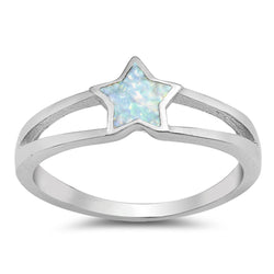 The Star Of NYC Sky ,Sterling Silver and Opal Ring-[stardust]