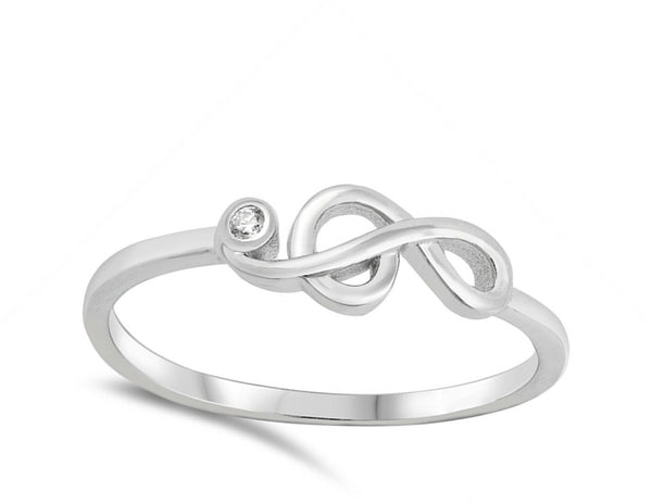 Silver Music Note Ring-[stardust]