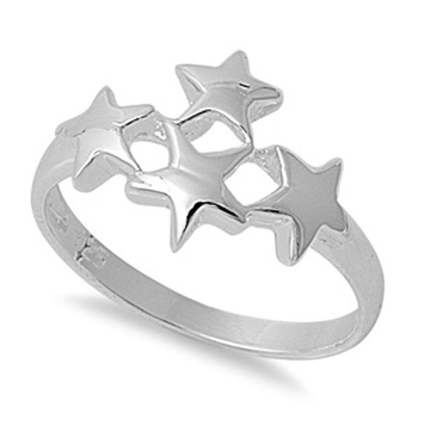 The Silver Constellation Silver Ring-[stardust]