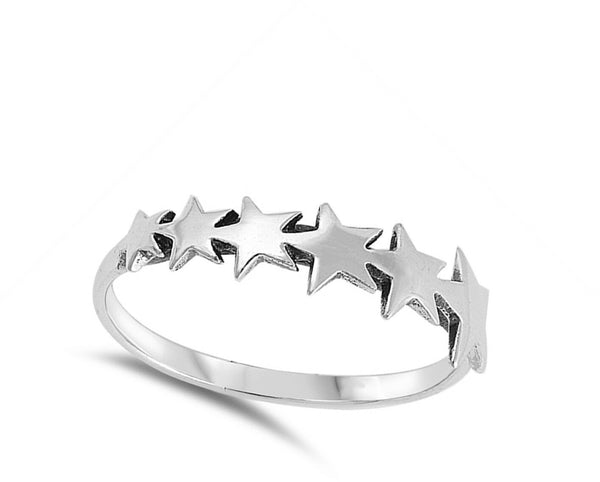Rocket Star Band, Sterling Silver Ring-[stardust]