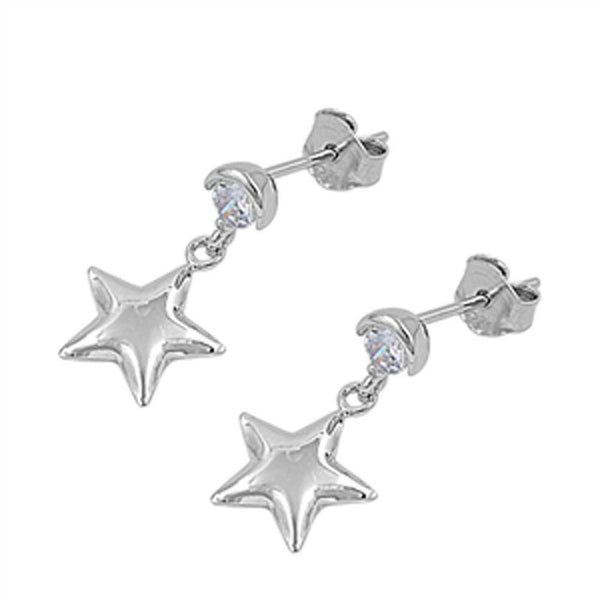 Hanging on a Star Sterling Silver Earrings-[stardust]