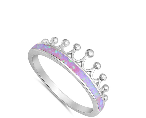 Crown Princess Pink Opal Ring-[stardust]