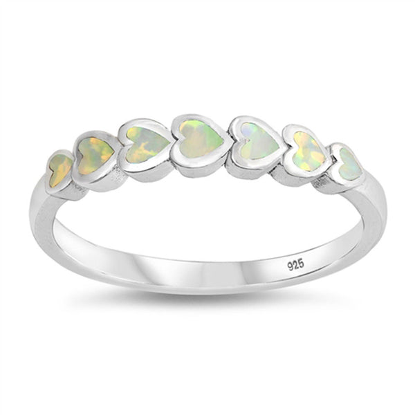 Pure Heart ,Sterling Silver and White Opal Ring-[stardust]
