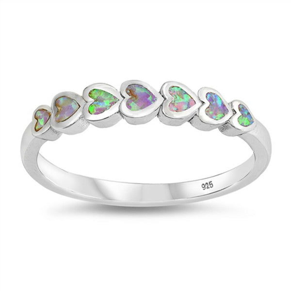 Pure Heart ,Sterling Silver and Pink Opal Ring-[stardust]