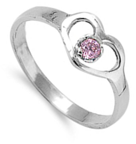 Heart Of Pink Silver Ring-[stardust]