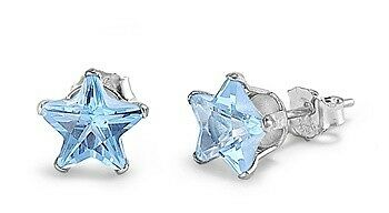 My Lucky Star Silver and Crystal Earrings-[stardust]