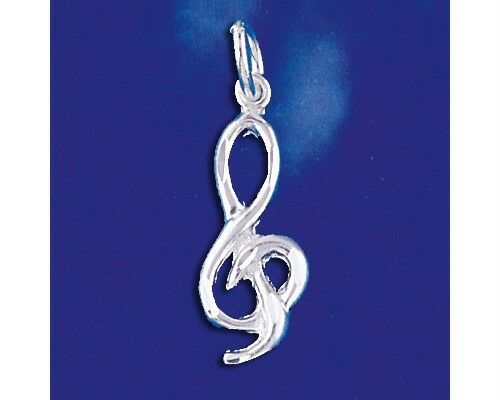 Music Note Key , Sterling Silver Pendant-[stardust]