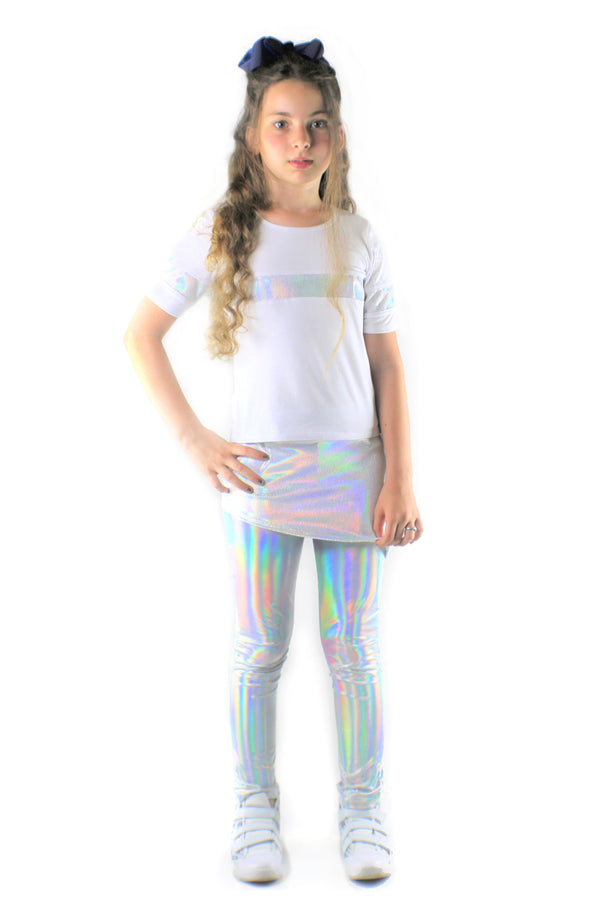 Stella Bamboo Jersey, Holographic sequins Top-[stardust]