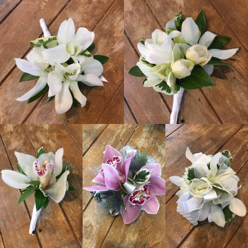 Four Corsages and a Boutonniere